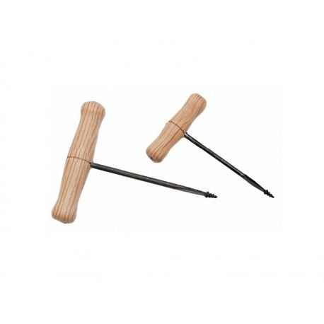 Barrina amb mànec fusta. Mides 2x80 mm (1'5)