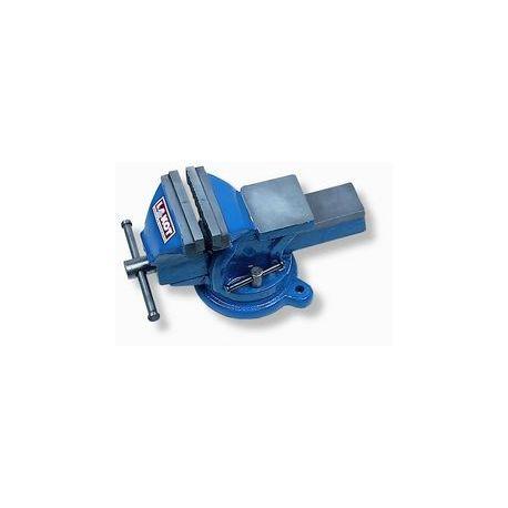 Tornillo banco fundición nodular giratorio con tornillos. Tamaño boca 100 mm