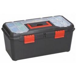 Caja herramientas plástico con 2 organizadores. Medidas