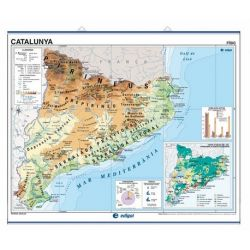 Mapa mural fisicopolític 970x1070 mm. Catalunya