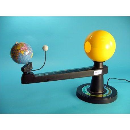 Modelo astronómico sistema Sol-Tierra-Luna. Movimiento manual