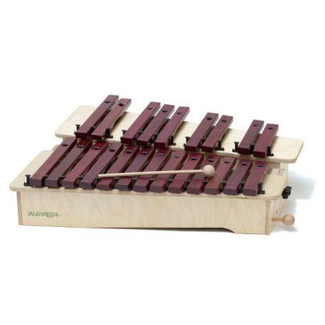 Xilófono cromático Albareda XSC. Soprano DO-LA 22 notas