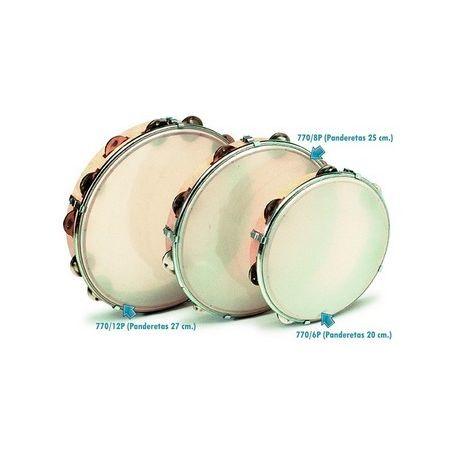 Pandero piel sintética regulable y maza. Diámetro 250 mm