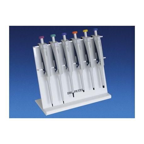 Soporte pipetas automáticas Digipette. Capacidad 6 pipetas