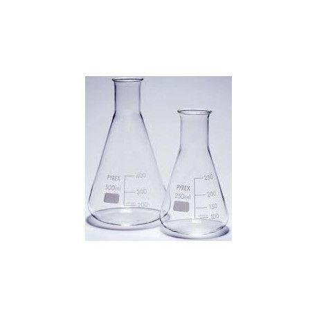 Matraz Erlenmeyer vidrio Pyrex. Capacidad 25 ml