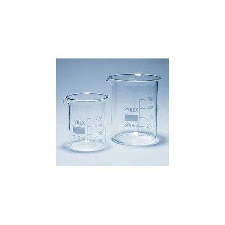 Vas precipitats vidre borosilicat Pyrex forma baixa. Capacitat 25 ml