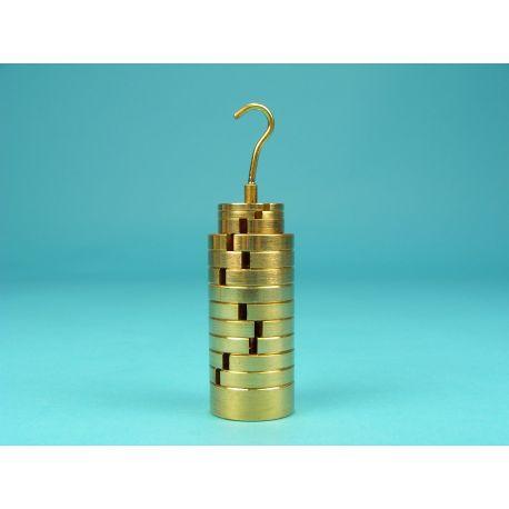Pesos ranurats amb portapesos V-11268. Joc 2x5g-1x10g-9x20g-1x50g