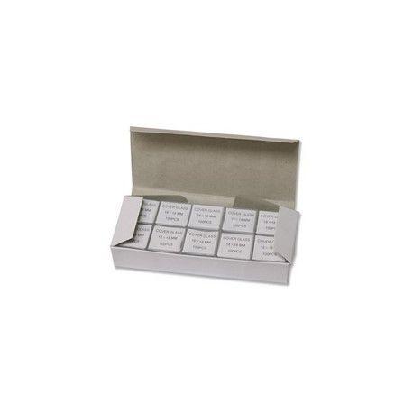 Cubreobjetos cuadrados 24x24 mm. Caja 1.000 piezas
