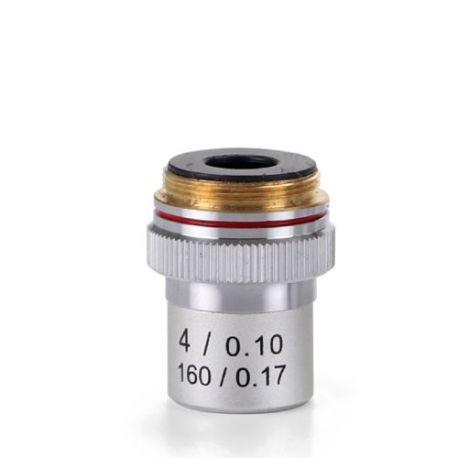 Objectiu microscopi Ecoblue EC-7004. Acromàtic 4x/0.10