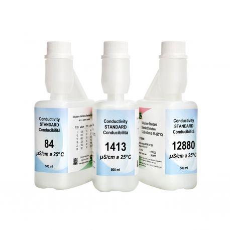 Solució calibrar patró conductivitat 1413 uS/cm XS-633. Flascó 500 ml