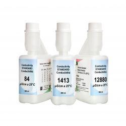 Solución calibrar patrón conductividad 12880 uS / cm XS-643. Frasco 500 ml
