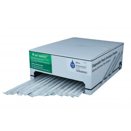 Pipetas graduadas plástico PS estériles 5 ml. Caja 200 unidades