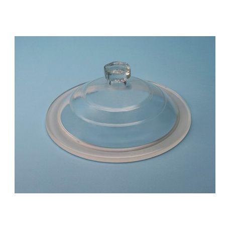 Tapa desecador vidrio Endo con pomo 300 mm. Diámetro 365 mm