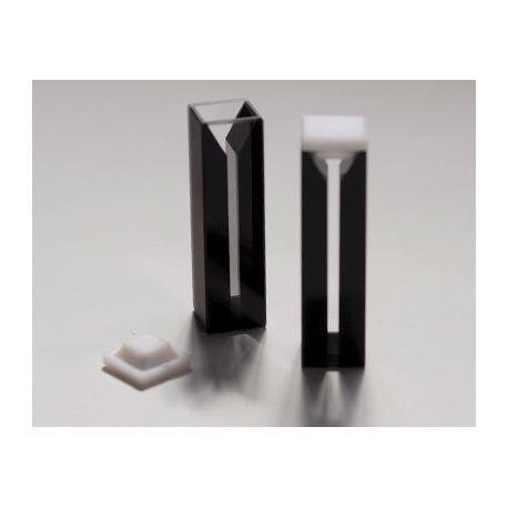 Cubetes espectrofotòmetre quars UV pas 10 mm 1'4 ml. Capsa 2 unitats