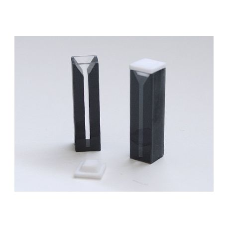 Cubetas espectrofotómetro cuarzo UV paso 10 mm 0'7 ml. Caja 2 unidades
