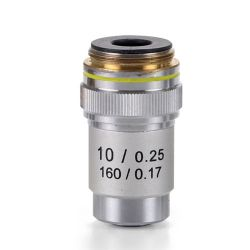Objectiu microscopi Microblue MB-7010. Acromàtic 10x/0.25