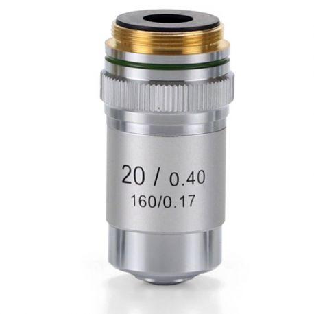 Objetivo microscopio Microblue MB-7020. Acromático 20x/0.40