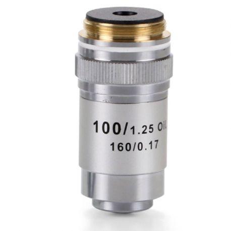 Objetivo microscopio Microblue MB-7000. Acromático 100x/1.25-RI