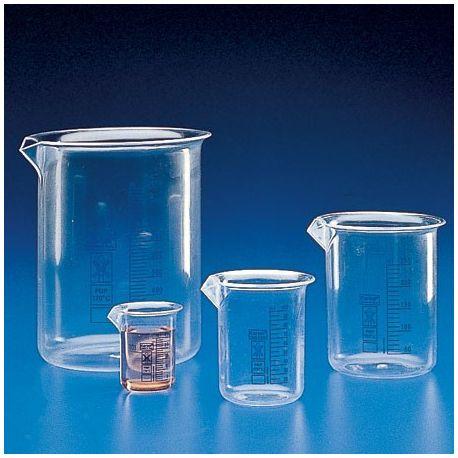 Vaso precipitados plástico PMP graduado. Capacidad 25 ml