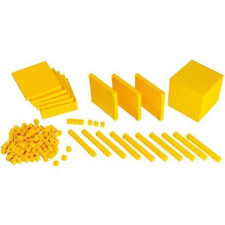 Blocs multibase plàstic base 10. Capsa 121 peces