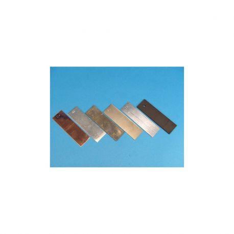 Plom metall làmina 0'1 mm AA-042708. Mida 300x300 mm