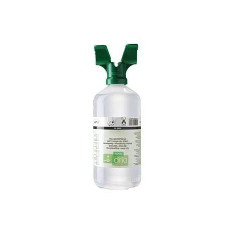 Solución lavaojos salina cloruro de sodio 0'9% Plum P-4800. Frasco 2 ojos 1000 ml
