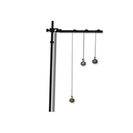 Péndulo con 3 bolas y soporte QLD-005. Bolas 25 mm de madera, aluminio y acero