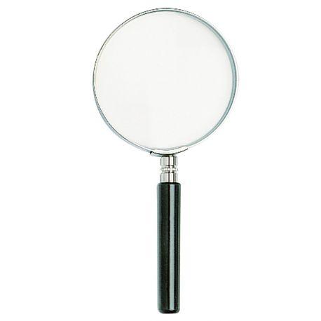 Lupa de mano unifocal H-9206. Lente vidrio diámetro 100 mm (2x)