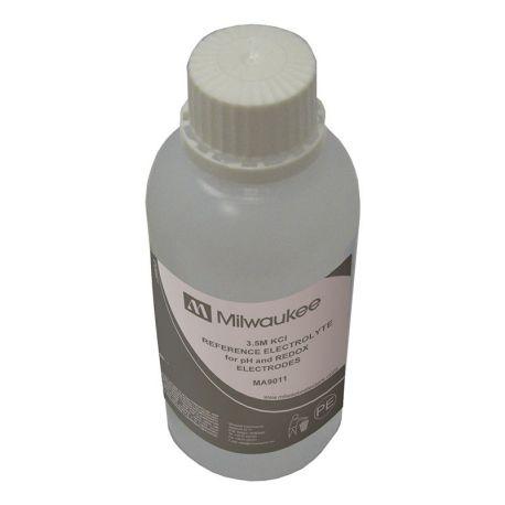 Solución electrolítica 3M KCI rellenar electrodos ph y ORP MT-50072. Frasco 250 ml