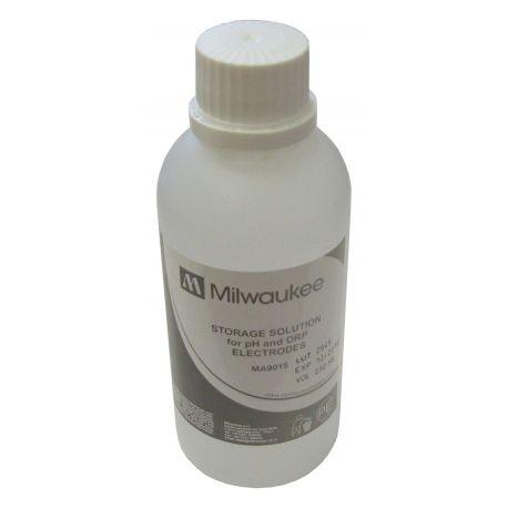 Solución guardar electrodos pH y ORP MA-9015. Frasco 230 ml