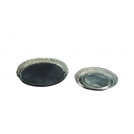 Bandejas pesar aluminio 7x72x74 mm. Caja 100 unidades