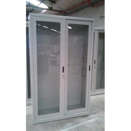 Armario laboratorio puertas metacrilato correderas. Medidas 1200x420x1800 mm