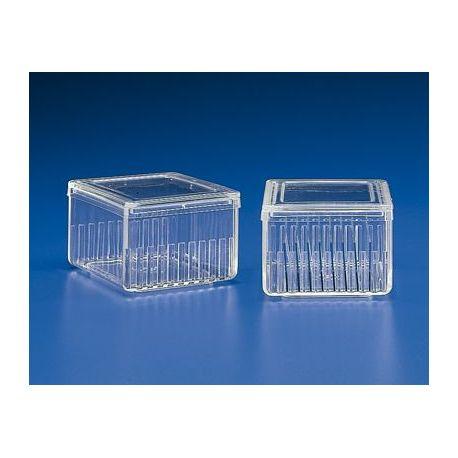Cubeta tinció plàstic PMP Schiefferdecker K-351. Horitzontal 10 ranures