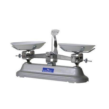 Balanza dos platos Nahita-R con pesas. Carga 2000 gramos en 2 g