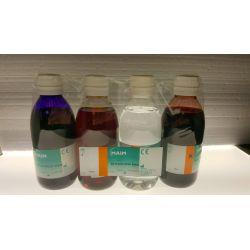 Tinción Gram-Hücker completa M-5216. Frascos 4x250 ml