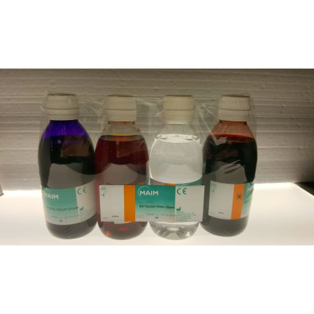 Tinció Gram-Hücker completa M-5216. Flascons 4x250 ml