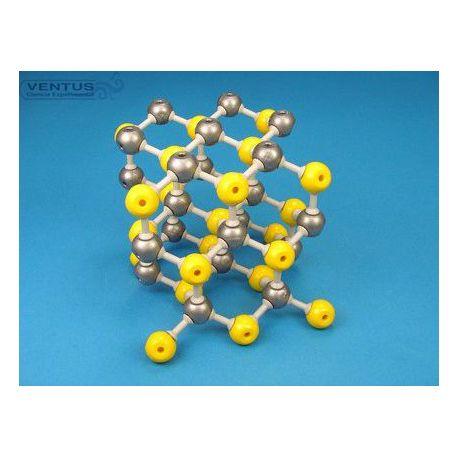 Modelo cristalográfico MKO-125-45. Esfalerita de zinc, 45 átomos