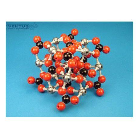 Modelo cristalográfico MKO-126-66. Calcita, 66 átomos