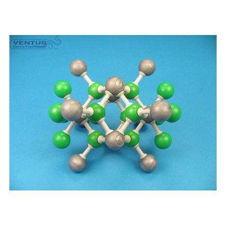 Modelo cristalográfico MKO-132-30. Fluorita, 30 átomos