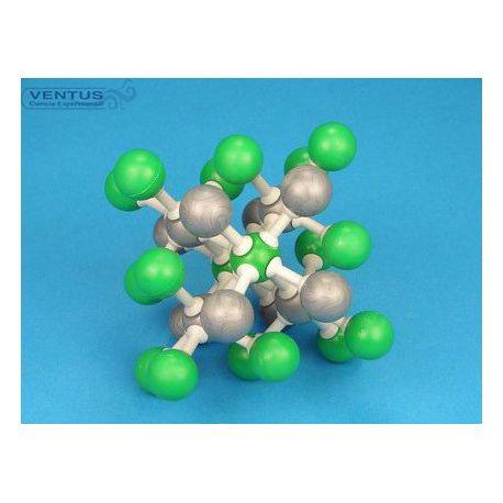 Modelo cristalográfico MKO-133-30. Cloruro de cesio, 30 átomos
