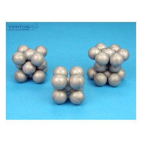 Model cristal·logràfic MSS-138-40. Ferro-coure-zinc, 40 àtoms