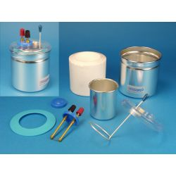 Calorímetro Joule V-13165. Vasos aluminio con calefacción
