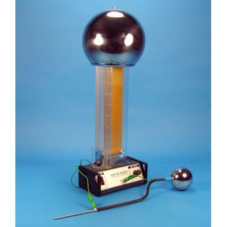 Generador Van der Graaf V-15230. Regulable 200 kV con chispa 100 mm