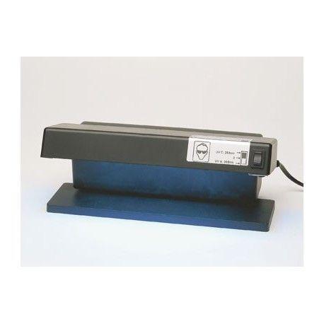 Lámpara luz ultravioleta con soporte. Doble UV 365-254 nm