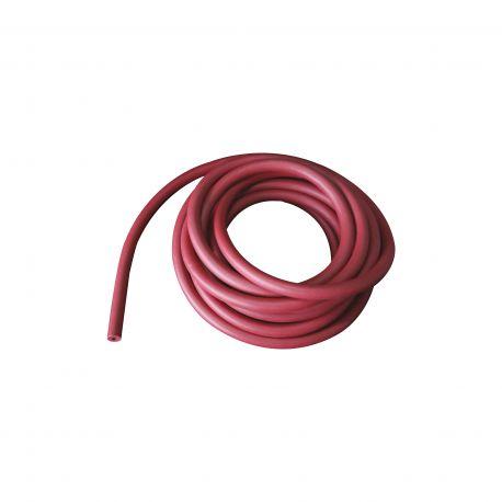 Tub goma natural vermella per a buit 8x16 mm. Longitud 1000 mm