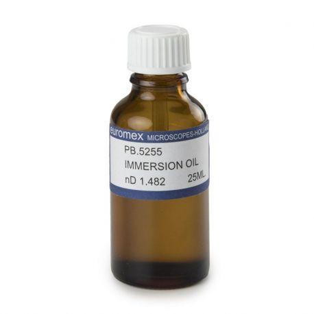 Oli d'immersió índex refracció  PB-5255. Flascó 25 ml