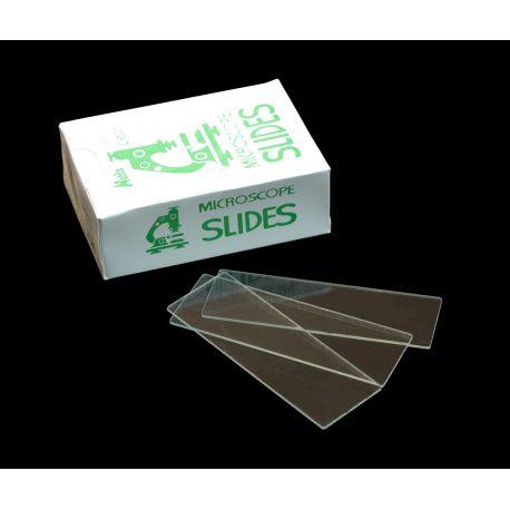 Portaobjetos cortados 26x76 mm. Caja 50 piezas