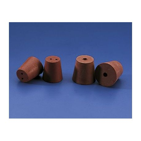 Tap cònic goma vermella 2 forats BMH-055. Mides 20x14x24 mm