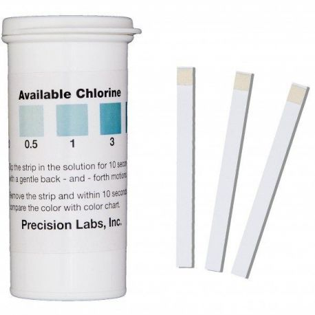 Tiras reactivas cloro 0-0'5-1-3-5 ppm CHL-05. Tub 50 unidades
