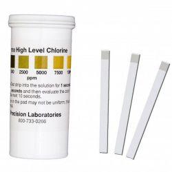 Tires reactives clor 0-1000-2500-5000-7500-10000 ppm CHL-1000. Tub 100 unitats